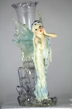 ICE FAIRY WITH DETACHABLE FROZEN FLOWER VASE, Great Gift for Displaying Flowers.