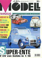 Modell Fahrzeug 1994 2/94 Magazin Alfa 155 Citroën 2CV Mustang 1964 Lancia Strat