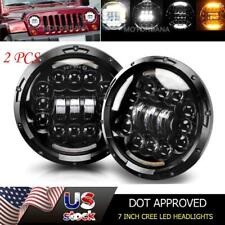 DOT 7 inch Halo LED Headlights Hi-Lo Projector for Jeep Wrangler JK TJ LJ Suzuki