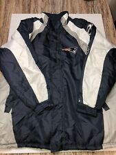 New England Patriots Mens NFL Football Coat/Parka Jacket Size XXL+bonus Cap