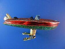 Craft Speed Boat Travel Glass Merck Old World Christmas Tree Ornament NWT 46054