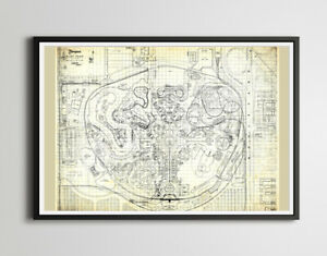 1960 Disneyland Park Layout POSTER! (up to full-size 24x36) - Behind the Scenes