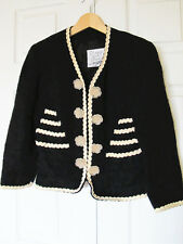 Moschino Cheap&Chic Black Tweed Blazer Jacket Floral Buttoned Chanelesque Lined