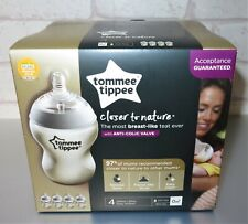 Set of 4 Tommee Tippee Baby Closer To Nature Kit Anti-Colic Bottles 260ml - New