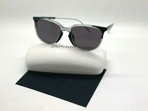 NEW Calvin Klein Sunglasses CK 19700S 072 BLACK/CLEAR 56-19-140MM /CASE