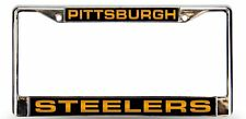 Pittsburgh Steelers LASER FRAME Chrome Metal License Plate Cover Tag Football