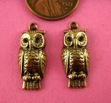 Small Owl Pair-4 Pc(s) Vint Design Ant Brass