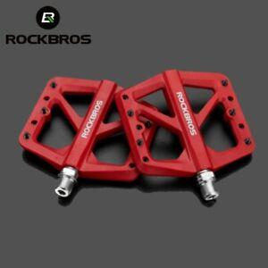 "ROCKBROS Bike Pedals MTB Lightweight Nylon Composite 9/16"" DU Bearing Pedals"
