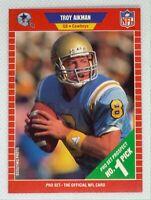 1989 Pro Set Troy Aikman #490 Rookie Card RC Dallas Cowboys HOF