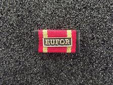 ^(A16-30) BW Einsatzmedaille Ordensspange Bandspange EUFOR bronze