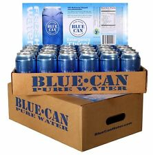 Blue Can Premium Emergency Drinking Water 12 oz Cans 24/Pack 50 Year Shelf Life