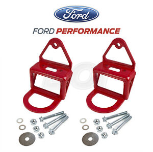 2015-2021 Mustang GT Ford Performance M-17954-RB Front & Rear Tow Hook Assembly