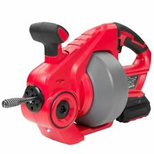 18v Max Cordless Portable Electric Plumbing Pipe Cleaner Drain Snake Auger Drill