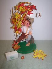 "Annalee Doll Society Logo Kid 1995 7"" Goin Fishin Logo Kid With Sun And Pin"