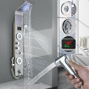 ELLO&ALLO Rainfall Waterfall Shower Panel Tower Rain Massage System Body Spa Jet