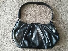 27f4c25c9b79 Simply Vera Wang Hobo Satchel Handbag Purse Shiny Metallic Black Clean
