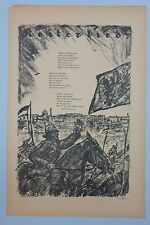 Erich zarraga (1889-1936) - jinete canción, 1. WK, litografía