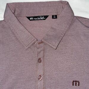 Travis Mathew 2XL MAROON Golf Polo Shirt Short Sleeve Men's