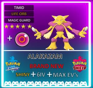 Pokemon Sword & Shield Shiny 6IV ALAKAZAM max EVS **FAST DELIVERY** COMPETITIVE