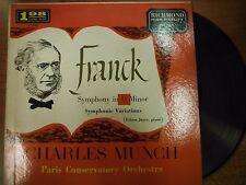 33 RPM Vinyl Franck Symphony in D Minor Charles Munch Richmond Records 042115SM