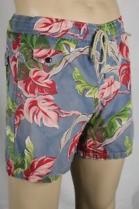 Ralph Lauren Large L Red Pink Green Floral Swim Shorts Trunks NWT