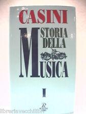 STORIA DELLA MUSICA Vol I Dall antichità classica al Cinquecento Claudio CASINI