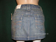 Aeropostale Junior Girls Denim Blue Jean Mini Skirt 7 / 8