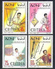 Eritrea 1998 música/los instrumentos tradicionales/Tambores/músicos 4v Set (n36672)