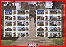 2010 Sg. Ls71 Castles of Wales Smiler Sheet