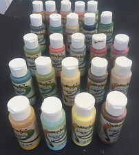 Lot of 24 Vtg WALLY R Acrylic Premium Artist's Paints 2 OZ EACH