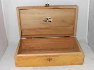 Vintage Wooden NEGA FILE Storage Box Reg. USA