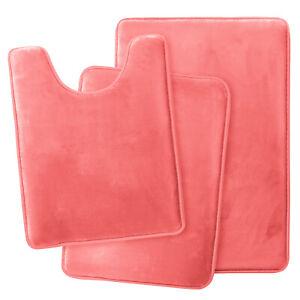 Pink Bathroom Rug Set For Sale Ebay