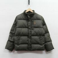 Vintage Polo Ralph Lauren Puffer Jacket Youth Size Large Green Down Insulated