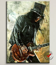SLASH GUITAR LEINWAND BILD ROCK BLUES JAZZ BILD ART POSTER WANDBILD KUNSTDRUCK