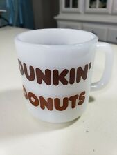 Vintage Dunkin Donuts Coffee Mug Glasbake Milk Glass Mug Great Condition!!