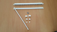 Aluminium & Plastic Trickle Vent for PVC Windows in White 350mm with Pull Bar