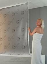 ECO-DuR Kassetten Duschrollo Seitenzug 90 cm weiß, Bullauge grau