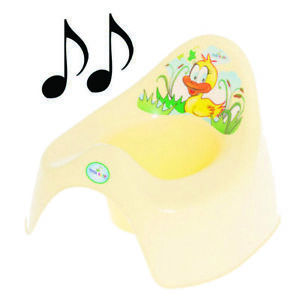 Easy Clean Toilet Potty Training Baby Kids Toddler Colourful Animal Duck(Yellow)