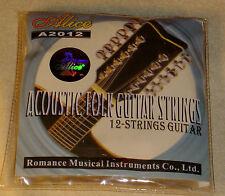 New set of Alice Brand 12 String Acoustic Guitar Strings
