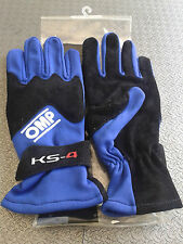 Guanti Kart OMP bimbo Ks-4 Taglia 5 Blue Karting Race Gloves for Children