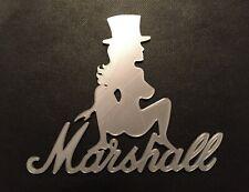 More details for custom slasherette girl guitar amp cab badge emblem for marshall slash amplifier