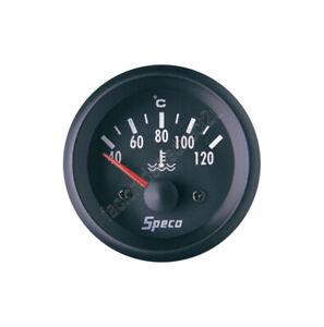 "GENUINE New Speco Meter 2"" 12V Electrical Water Temperature Gauge Black 523-23"