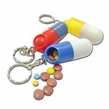 Outdoor Pill Container Case Key-chain Style Capsules Tablet Storage Box Portable