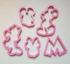Mickey Minnie Mouse Bizcocho Masita Cortador Fondant Repostería Molde Set