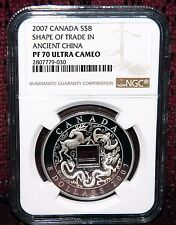 2007 CANADA $8 THE SHAPE OF TRADE IN ANCIENT CHINA SILVER  NGC PF 70 ULTRA CAMEO