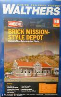 Walthers HO #933-4055 BricK Mission Style Depot (kit Form)