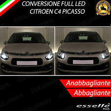 CONVERSIONE FARI FULL LED CITROEN C4 PICASSO 6000K XENON LED CANBUS BIANCO