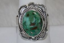 Signed Navajo Sterling Silver Rare Royston Turquoise Ring