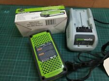 Green Works 24v Batteries And Charger, New 29312