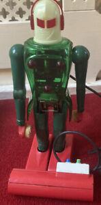 RARE BOXED VINTAGE 1960s Dux Astroman Robot Working